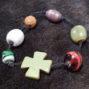 Jewelry - Cross & beaded bracelet